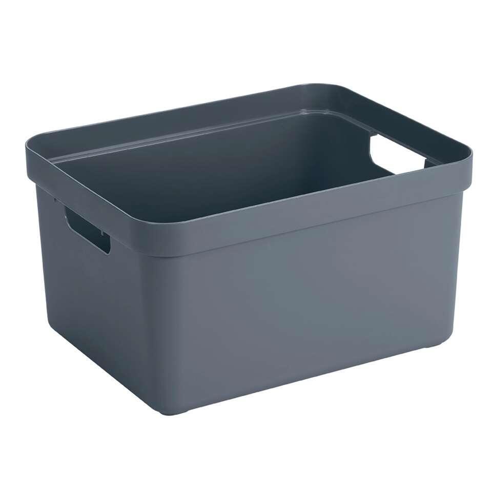 Sigma home box 32 liter - donker blauwgrijs - 24,3x35,4x45,3 cm - Leen Bakker