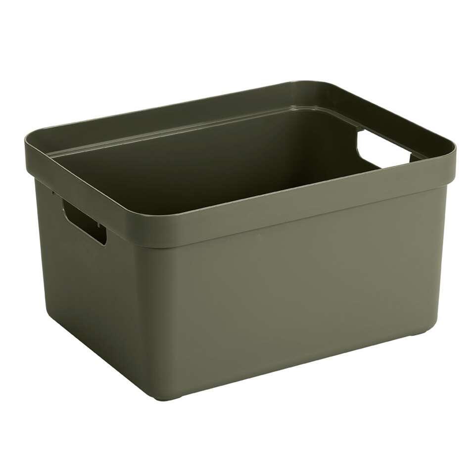 Sigma home box 32 liter - donkergroen - 24,3x35,4x45,3 cm