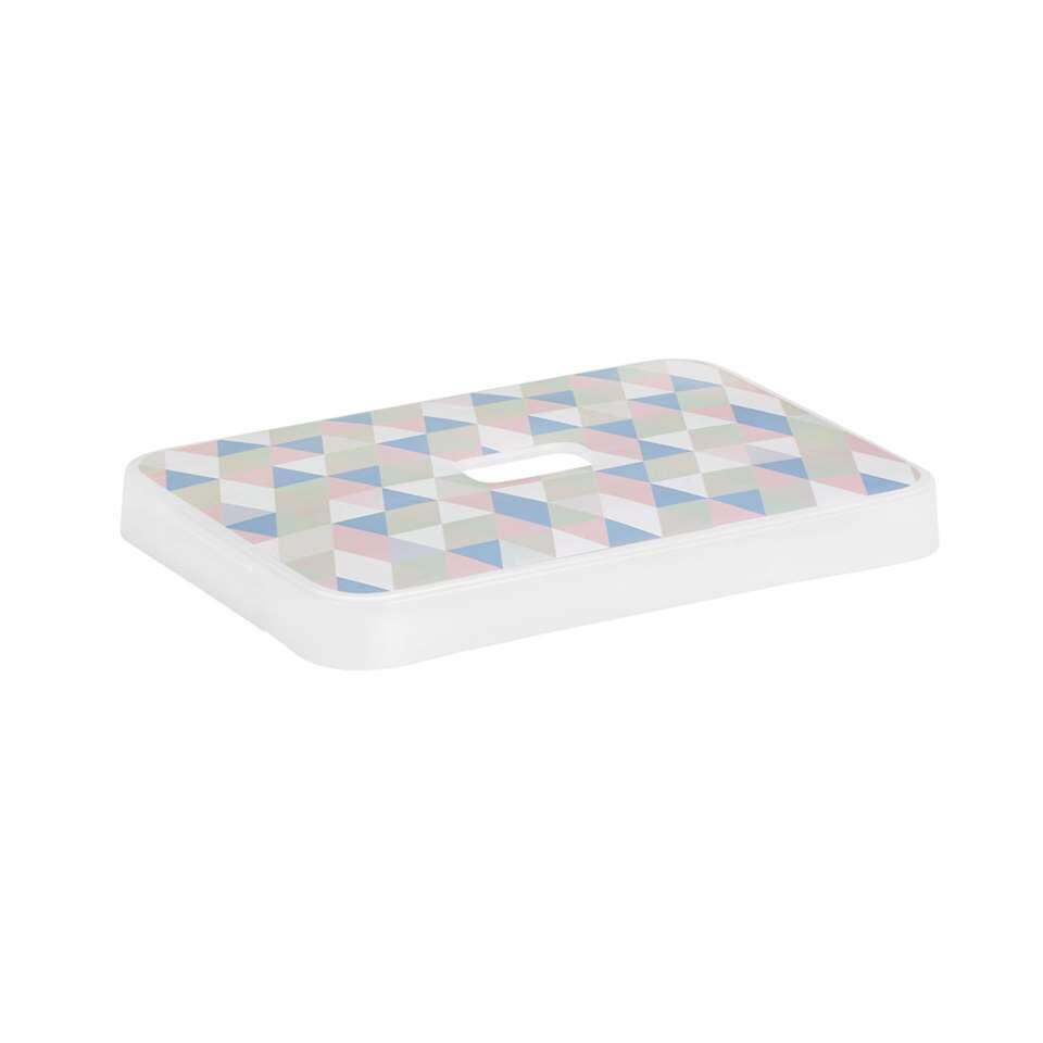 Sigma home opbergdeksel 13+25 liter - transparant/multikleur - 3,4x24,2x34,2 cm - Leen Bakker
