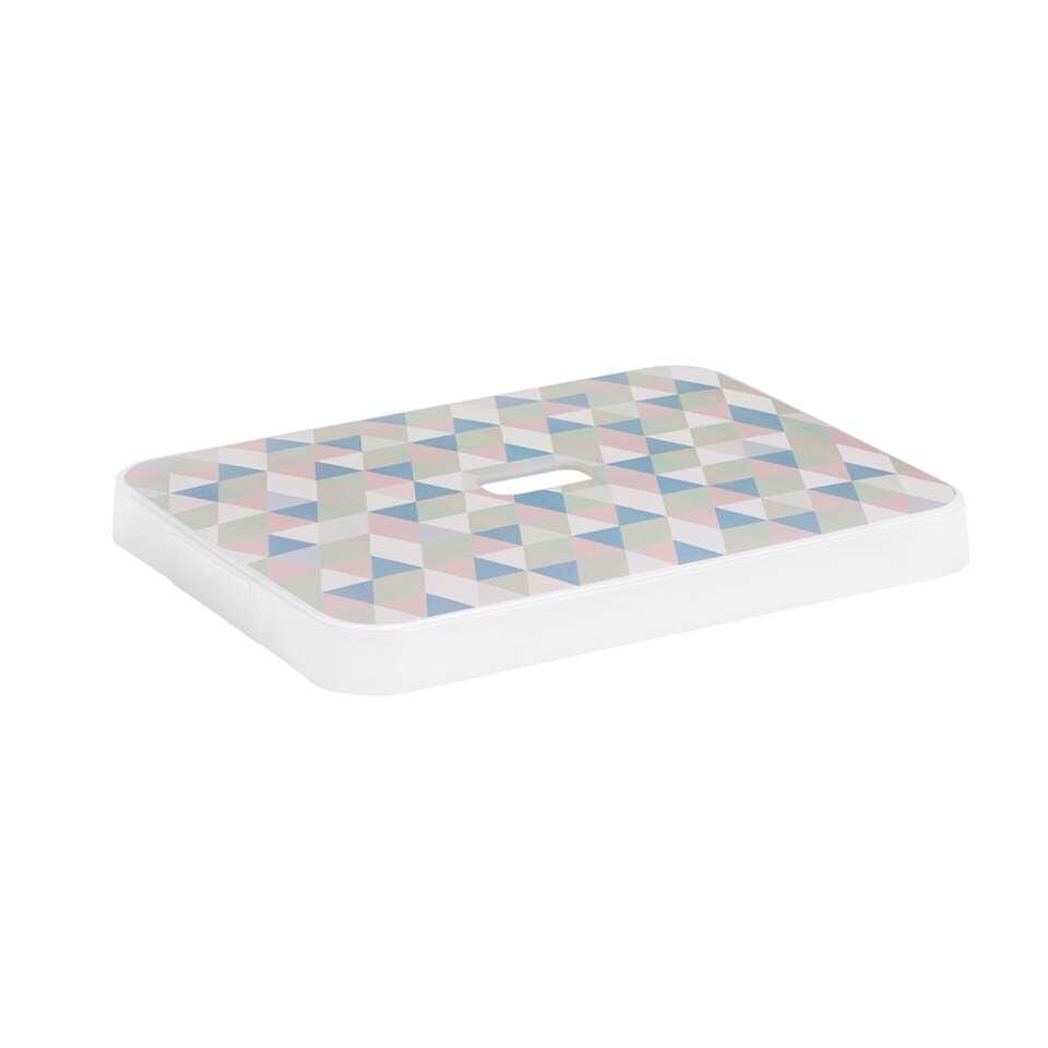 Sigma home opbergdeksel 24+32 liter - transparant/multikleur - 4x34,4x44,4 cm - Leen Bakker