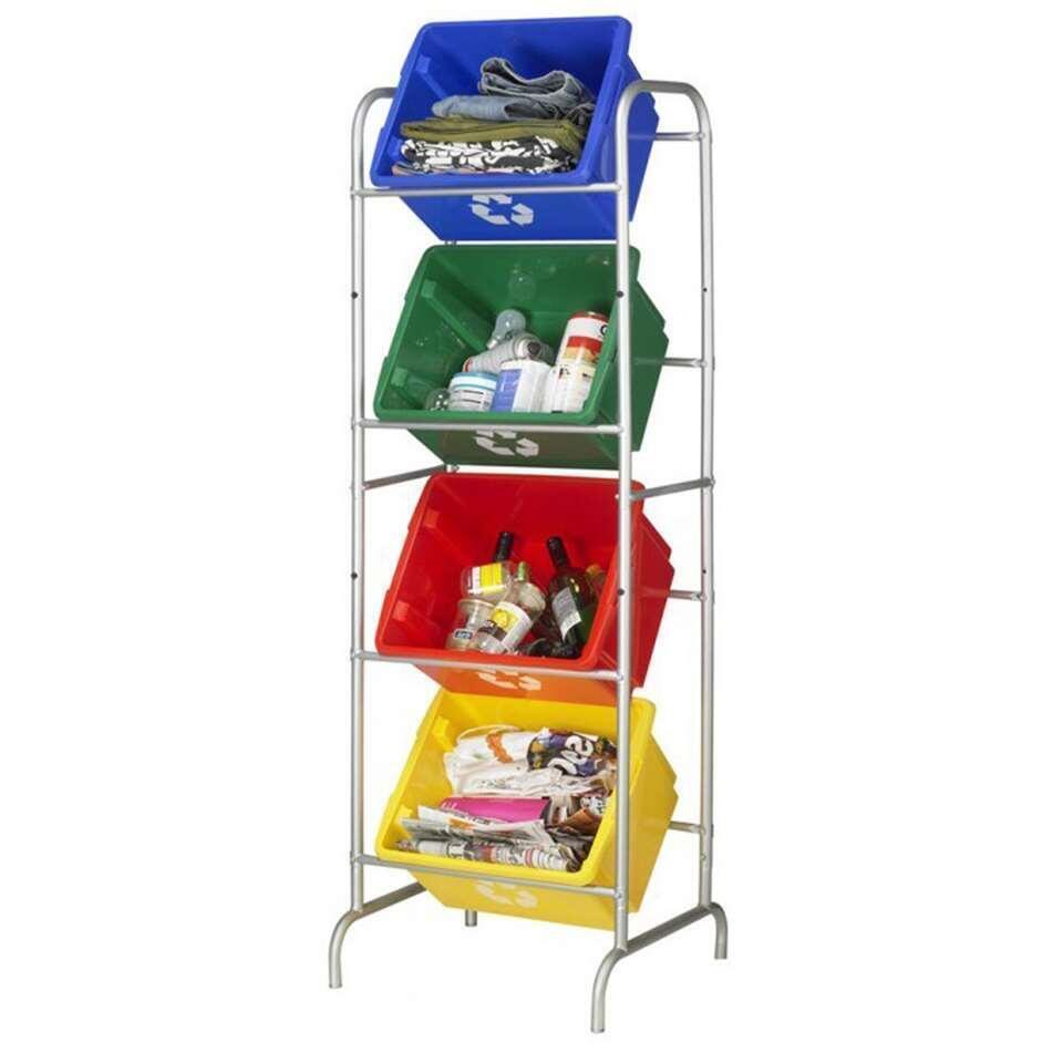 Nesta eco opbergbox 32 liter - groen - 24x36x45,5 cm - Leen Bakker