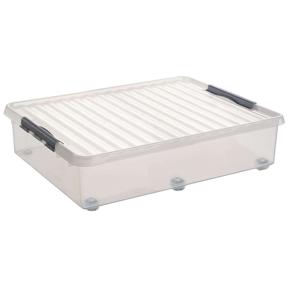 Q-line rollerbox 60 liter met wielen - transparant - 20x50x80 cm
