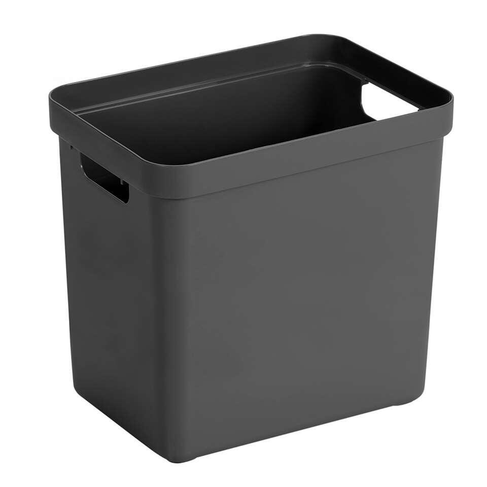Sigma home box 25 liter - antraciet - 36,3x25x35 cm - Leen Bakker
