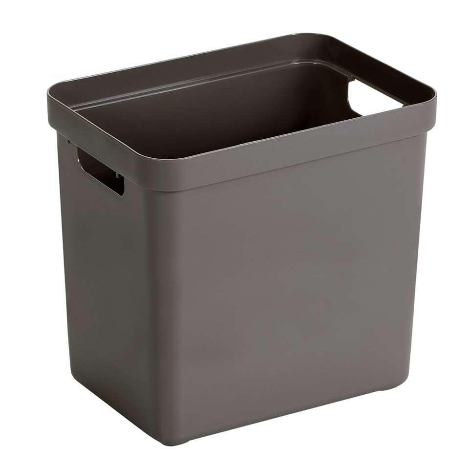 Sigma home box 25 liter - taupe - 36,3x25x35 cm - Leen Bakker