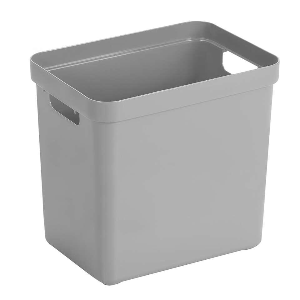 ¥Sigma home box 25 liter - lichtgrijs - 36,3x25x35 cm¥ - Leen Bakker