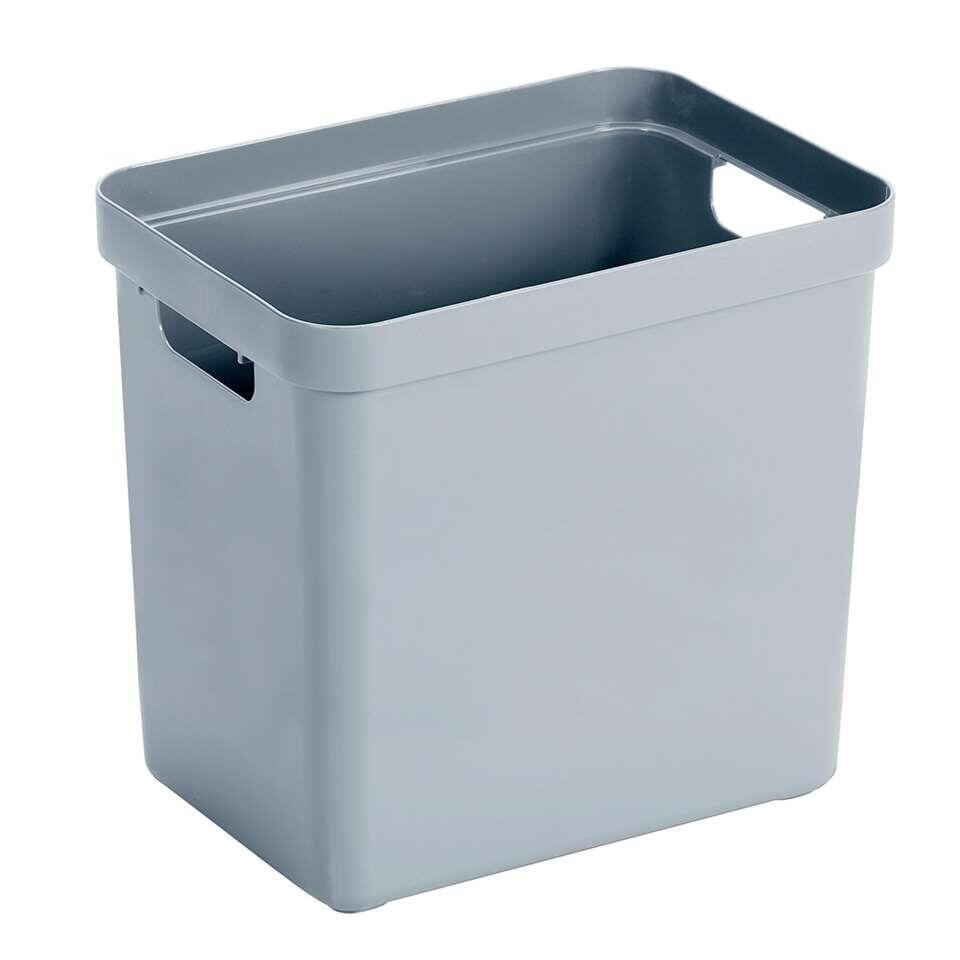 Sigma home box 25 liter - blauwgrijs - 36,3x25x35 cm - Leen Bakker