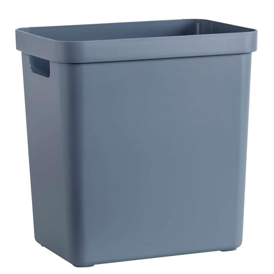 Sigma home box 25 liter - donker blauwgrijs - 36,3x25x35 cm - Leen Bakker