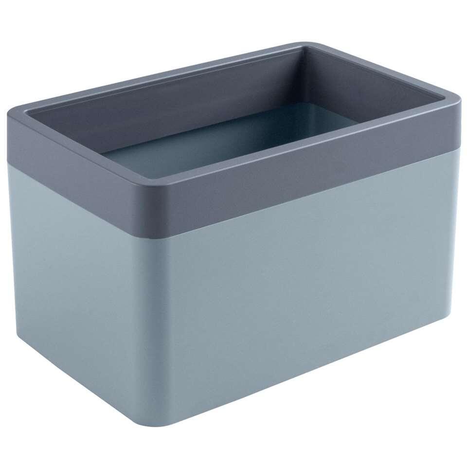 Sigma home organizer 1,65 liter - blauwgrijs/donkerblauw - 11,4x12x18 cm - Leen Bakker