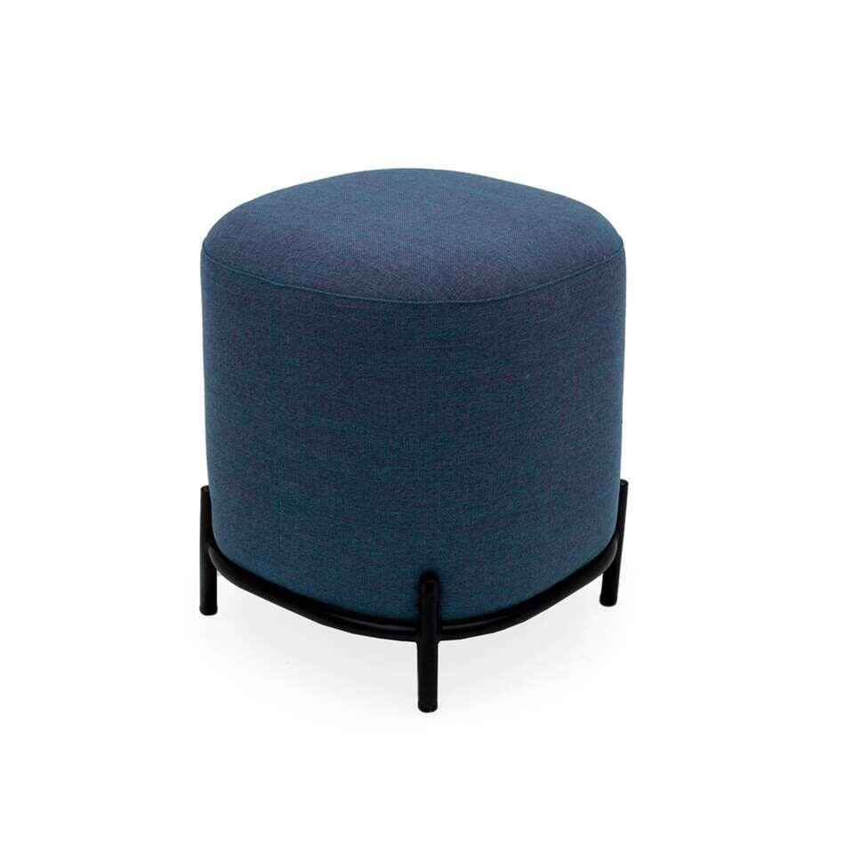 Tenzo pouf Harry - bleu - 46x42x42 cm
