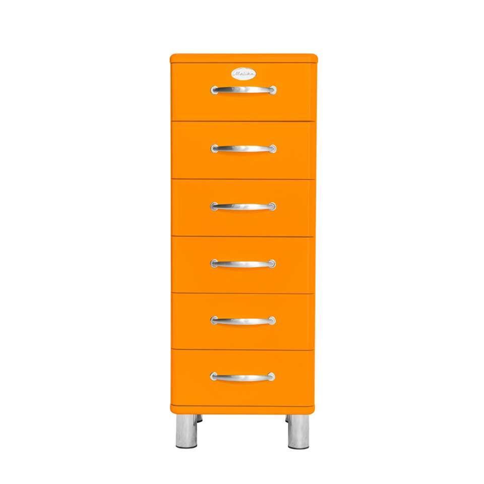Tenzo ladekast Malibu 6 lades - oranje - 111x41x41 cm - Leen Bakker