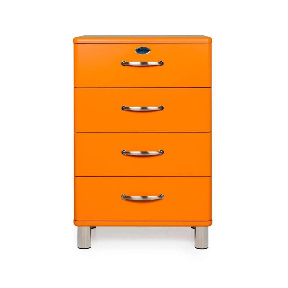 Tenzo ladekast Malibu 4 lades - oranje - 92x60x41 cm - Leen Bakker