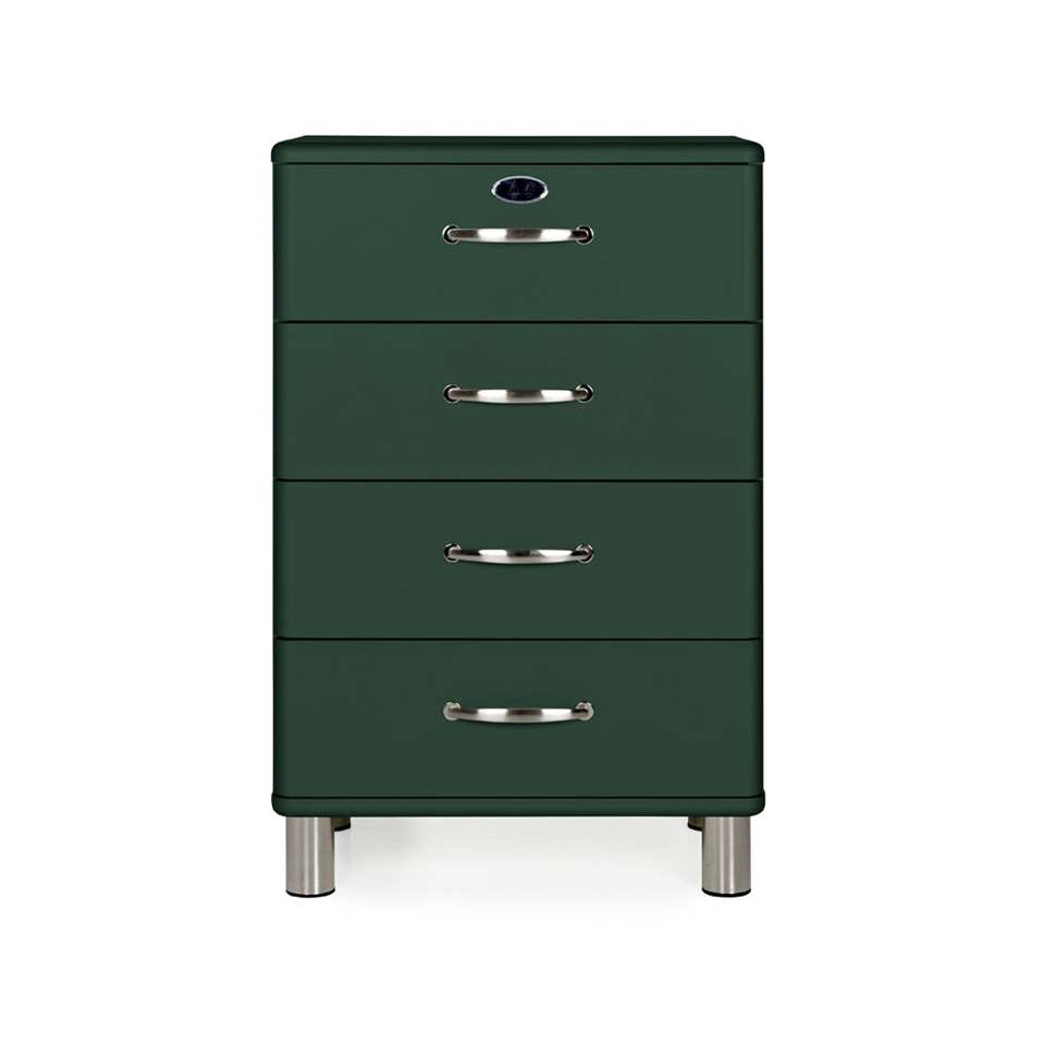 Tenzo ladekast Malibu 4 lades - groen - 92x60x41 cm - Leen Bakker