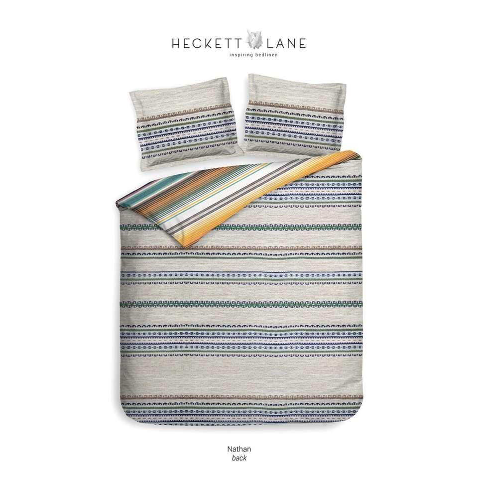 Heckett & Lane dekbedovertrek Nathan - multikleur - 140x220 cm