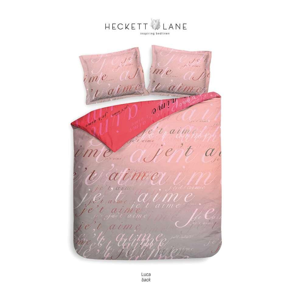 Heckett & Lane dekbedovertrek Luca - roze - 140x220 cm