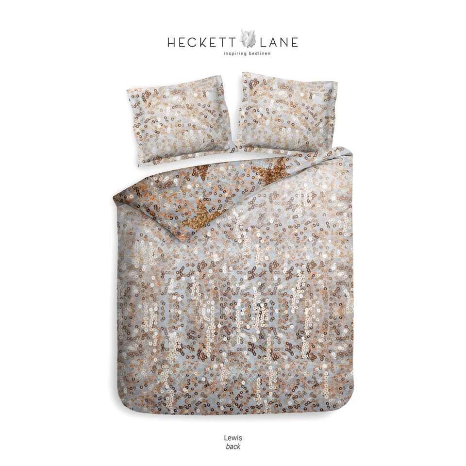 Heckett & Lane dekbedovertrek Lewis - goud - 140x220 cm - Leen Bakker