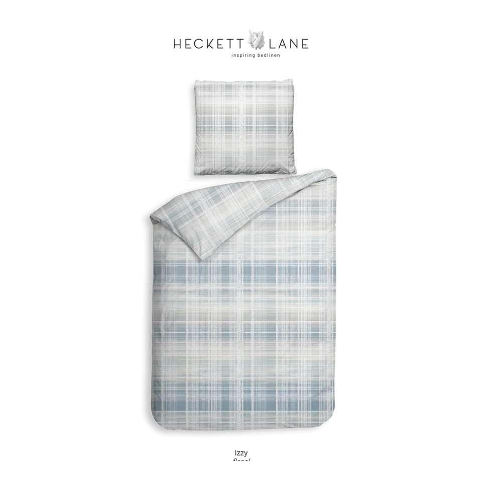 Heckett & Lane dekbedovertrek Izzy - blauw - 200x220 cm