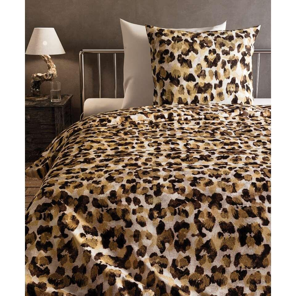 Heckett & Lane dekbedovertrek Nora - bruin - 200x220 cm - Leen Bakker