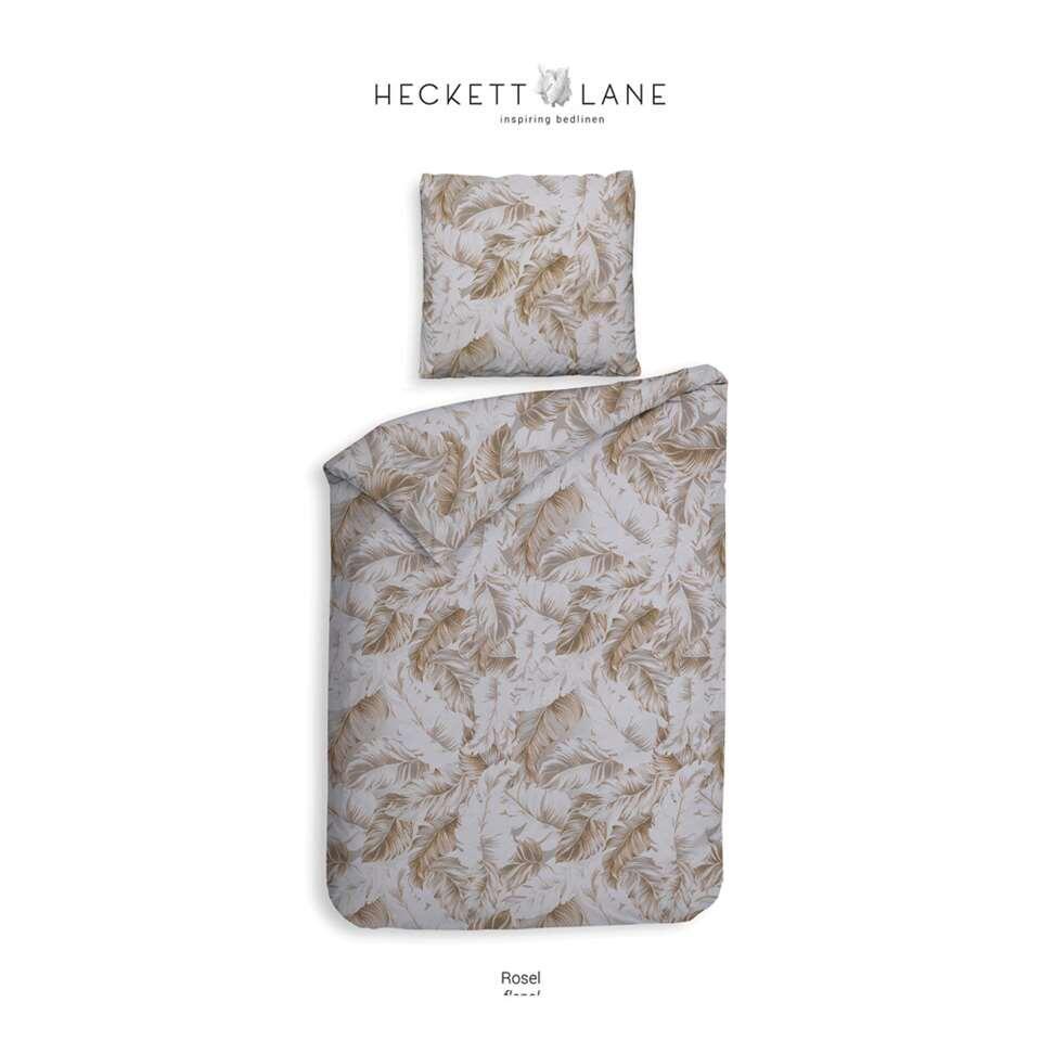 Heckett & Lane dekbedovertrek Rosel - goud - 140x220 cm - Leen Bakker