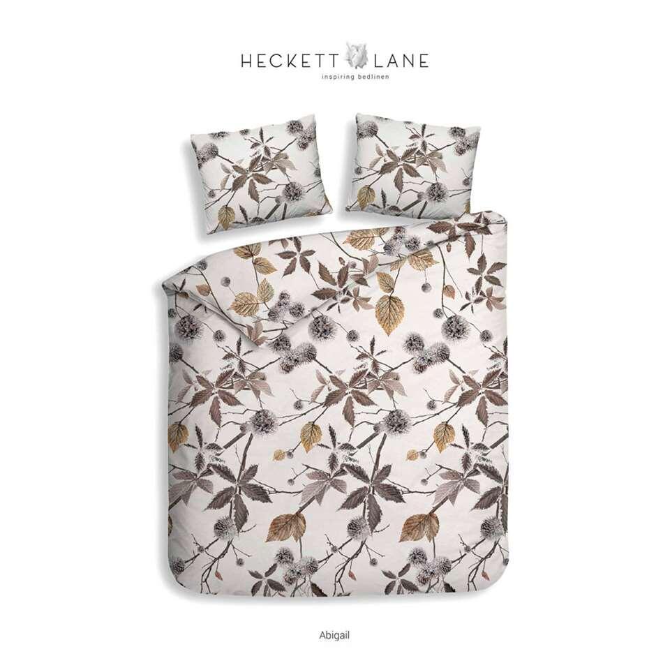 Heckett & Lane dekbedovertrek Abigail - bruin - 240x220 cm