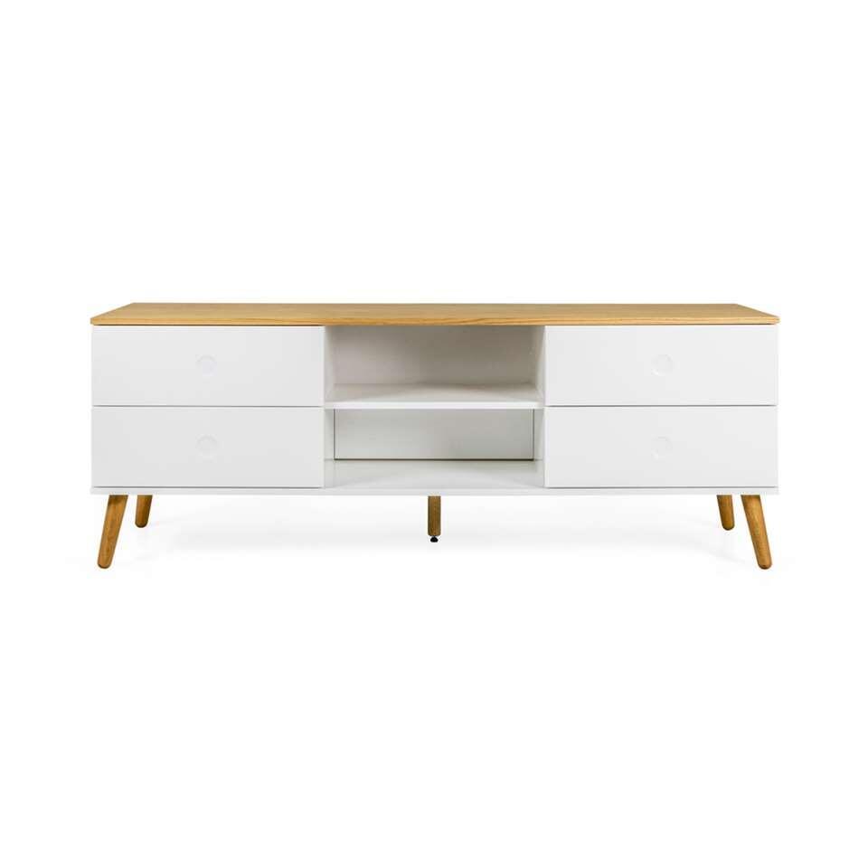 Tenzo tv-meubel Dot - wit/eikenkleur - 60x162x43 cm