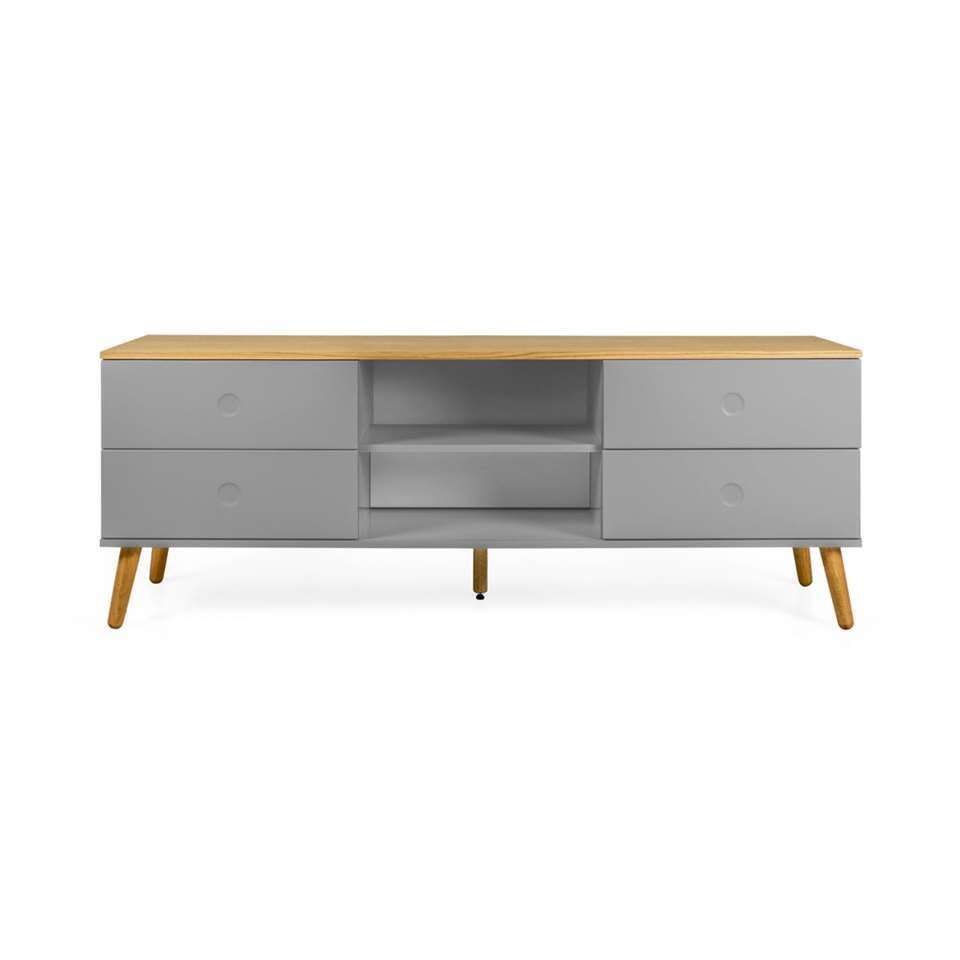 Tenzo tv-meubel Dot - grijs/eiken - 60x162x43 cm - Leen Bakker