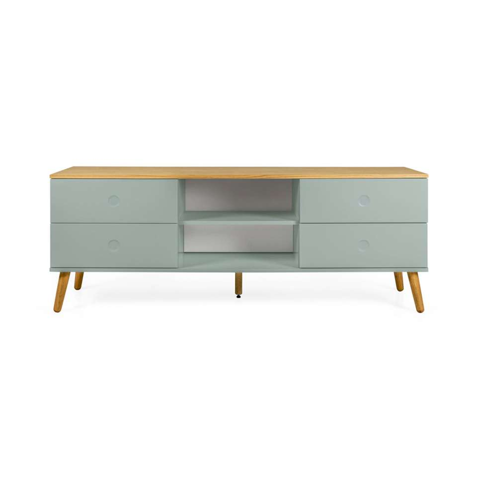 Tenzo meuble tv Dot - vert/couleur chêne - 60x162x43 cm