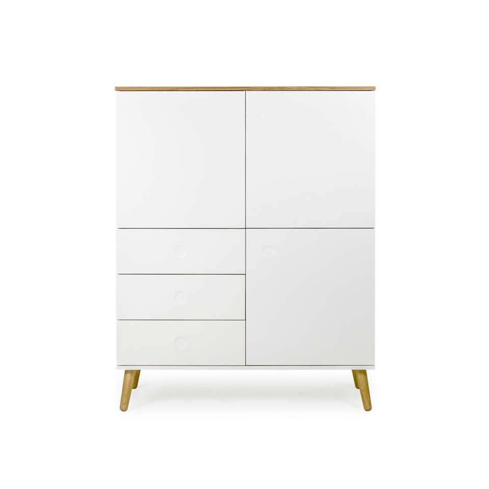 Tenzo rangement mural Dot - blanc/couleur chêne - 137x109x43 cm
