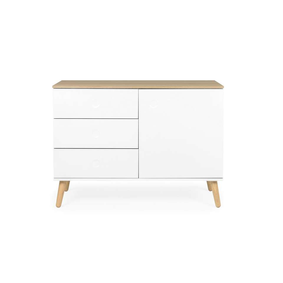 Tenzo dressoir Dot - wit/eiken - 79x109x43 cm