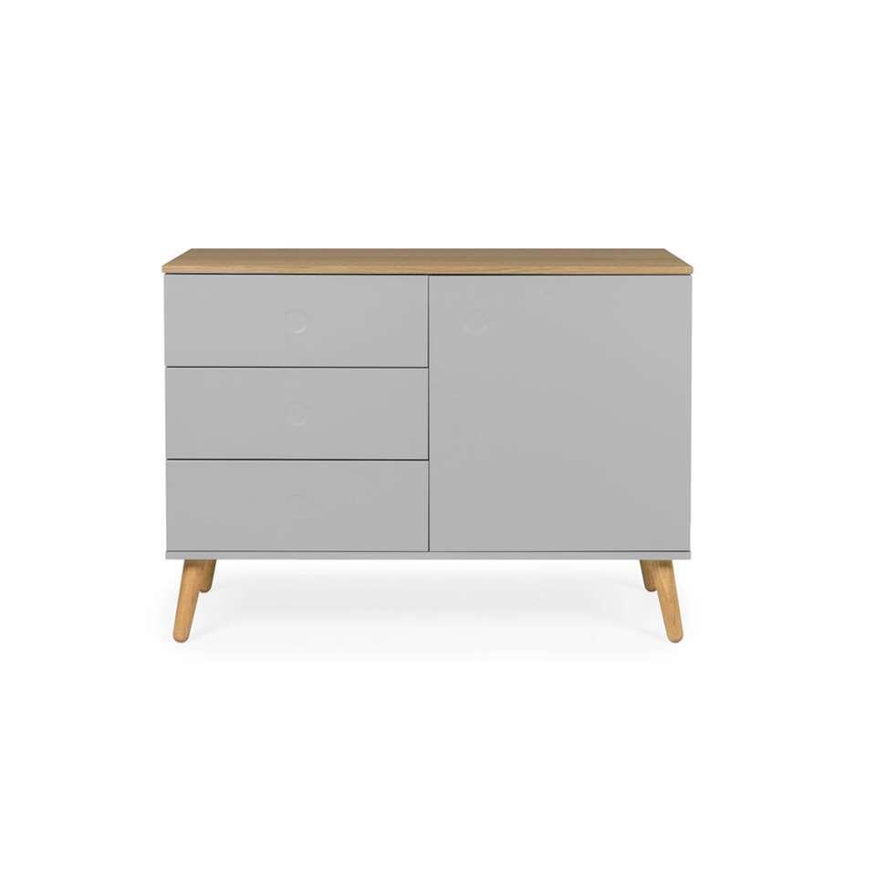 Tenzo dressoir Dot - grijs/eiken - 79x109x43 cm