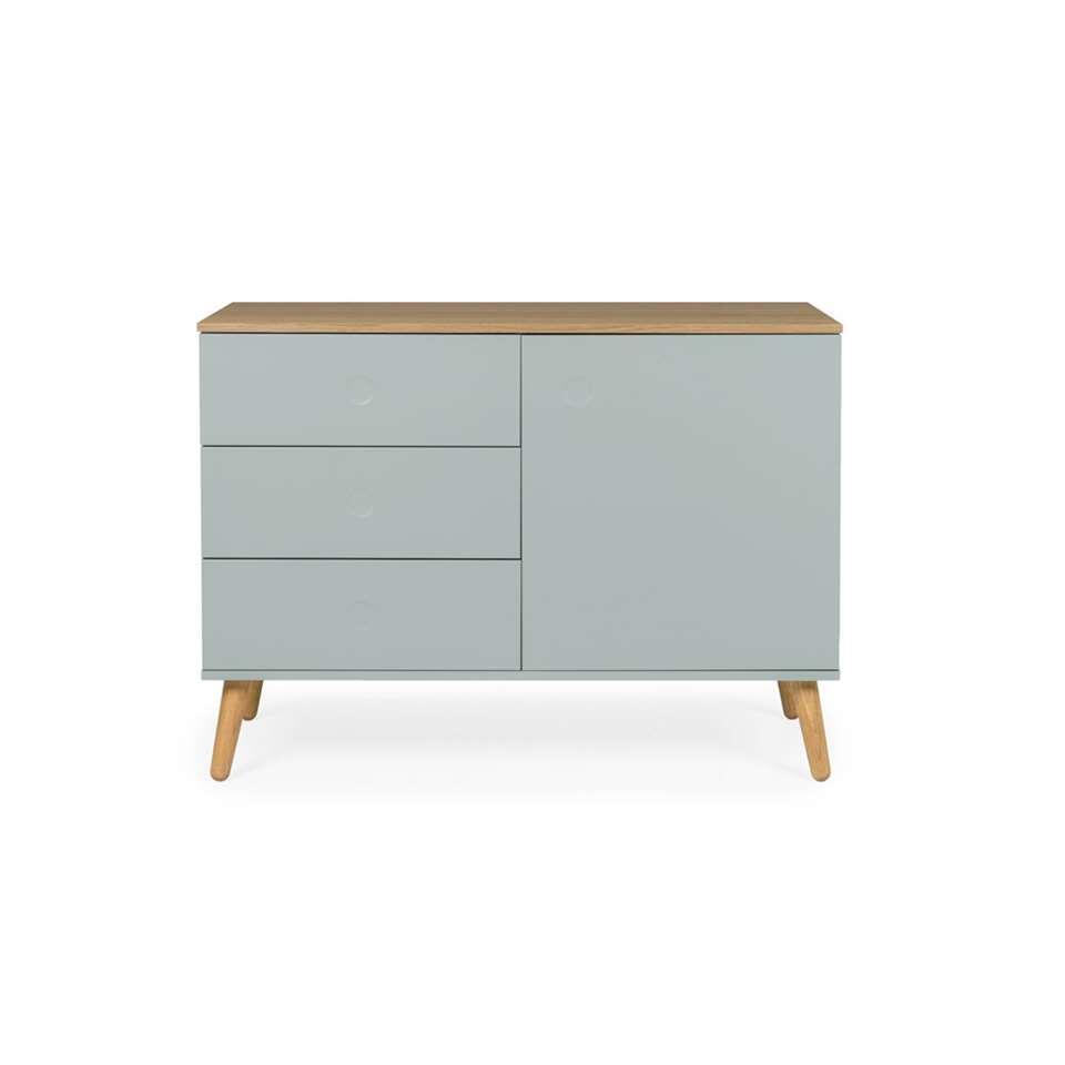 Tenzo dressoir Dot - lichtgroen/eikenkleur - 79x109x43 cm