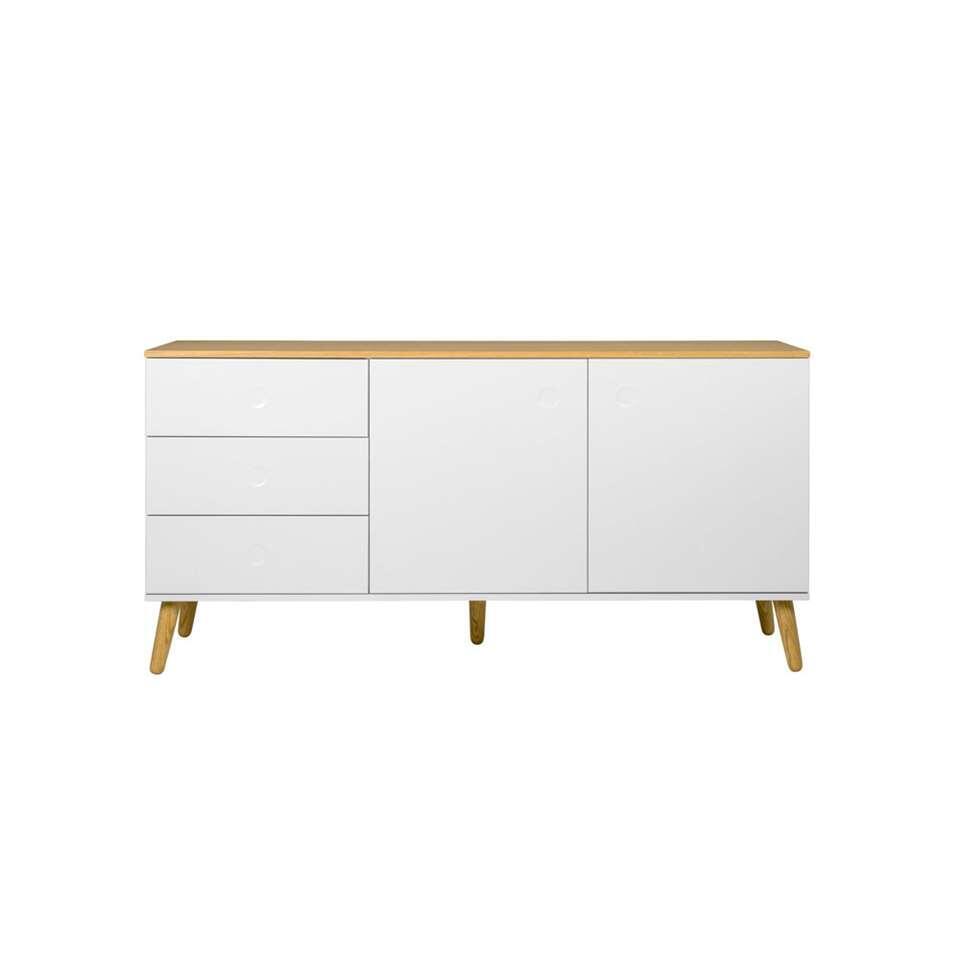 Tenzo dressoir Dot - wit/eiken - 79x162x43 cm