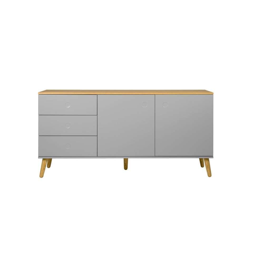Tenzo dressoir Dot - grijs/eiken - 79x162x43 cm