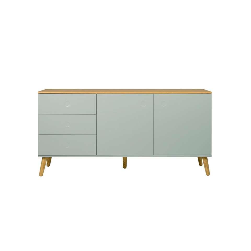 Tenzo dressoir Dot - lichtgroen/eiken - 79x162x43 cm