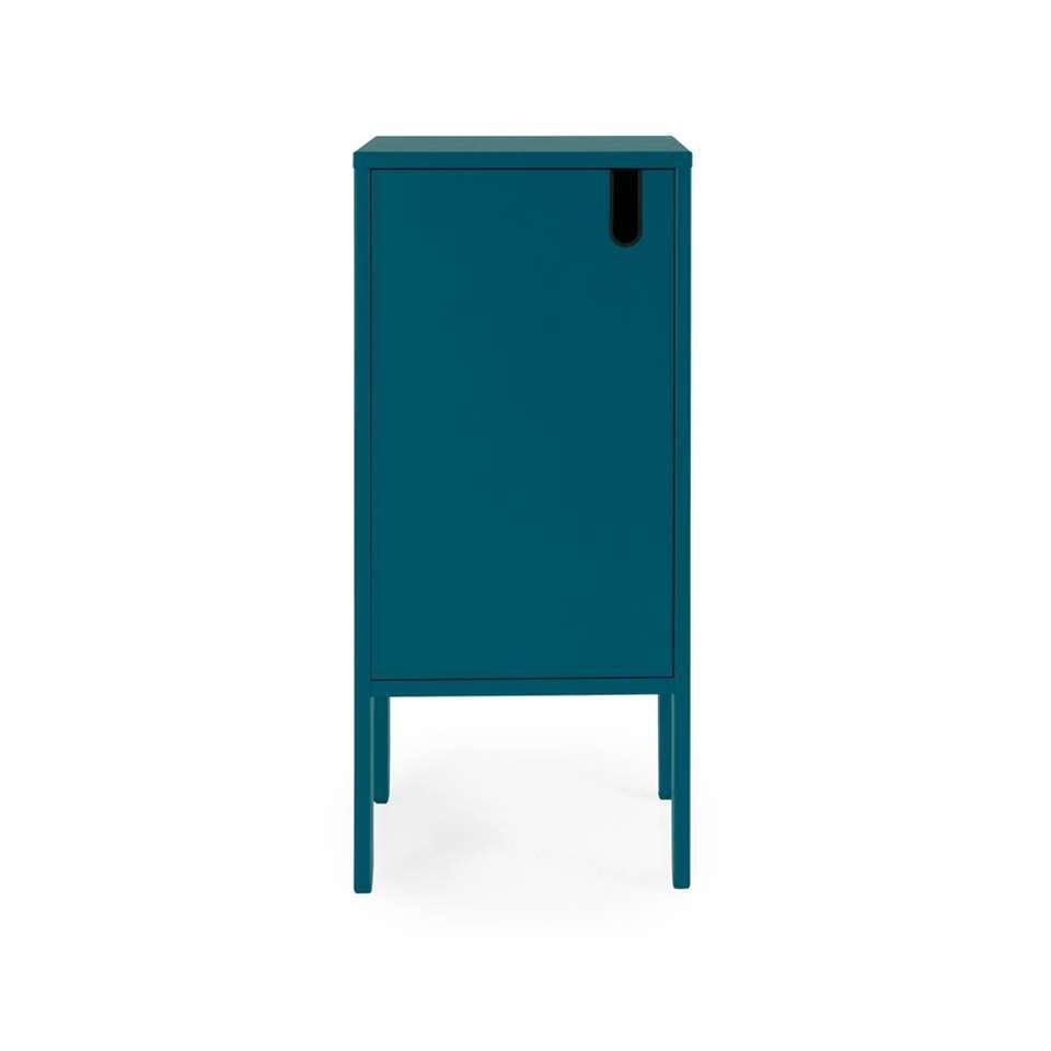 Tenzo wandkast Uno 1-deurs - petrolblauw - 89x40x40 cm