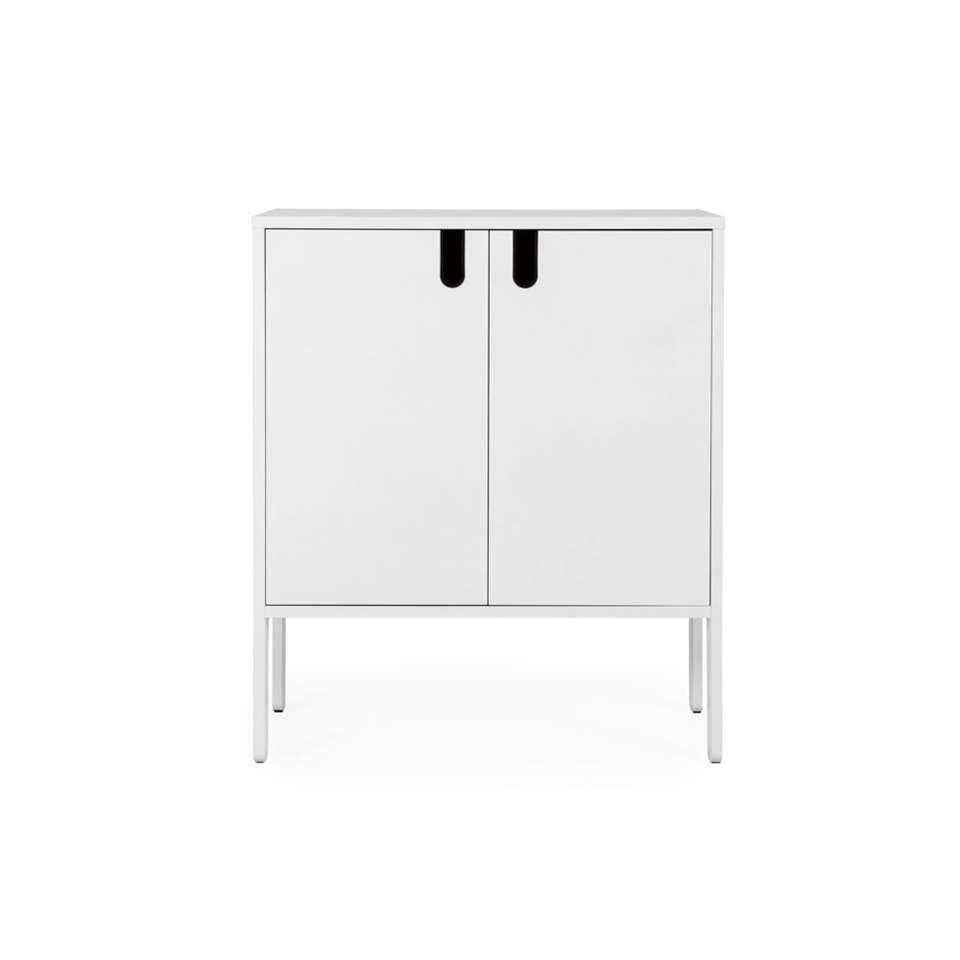 Tenzo wandkast Uno 2-deurs - wit - 89x76x40 cm