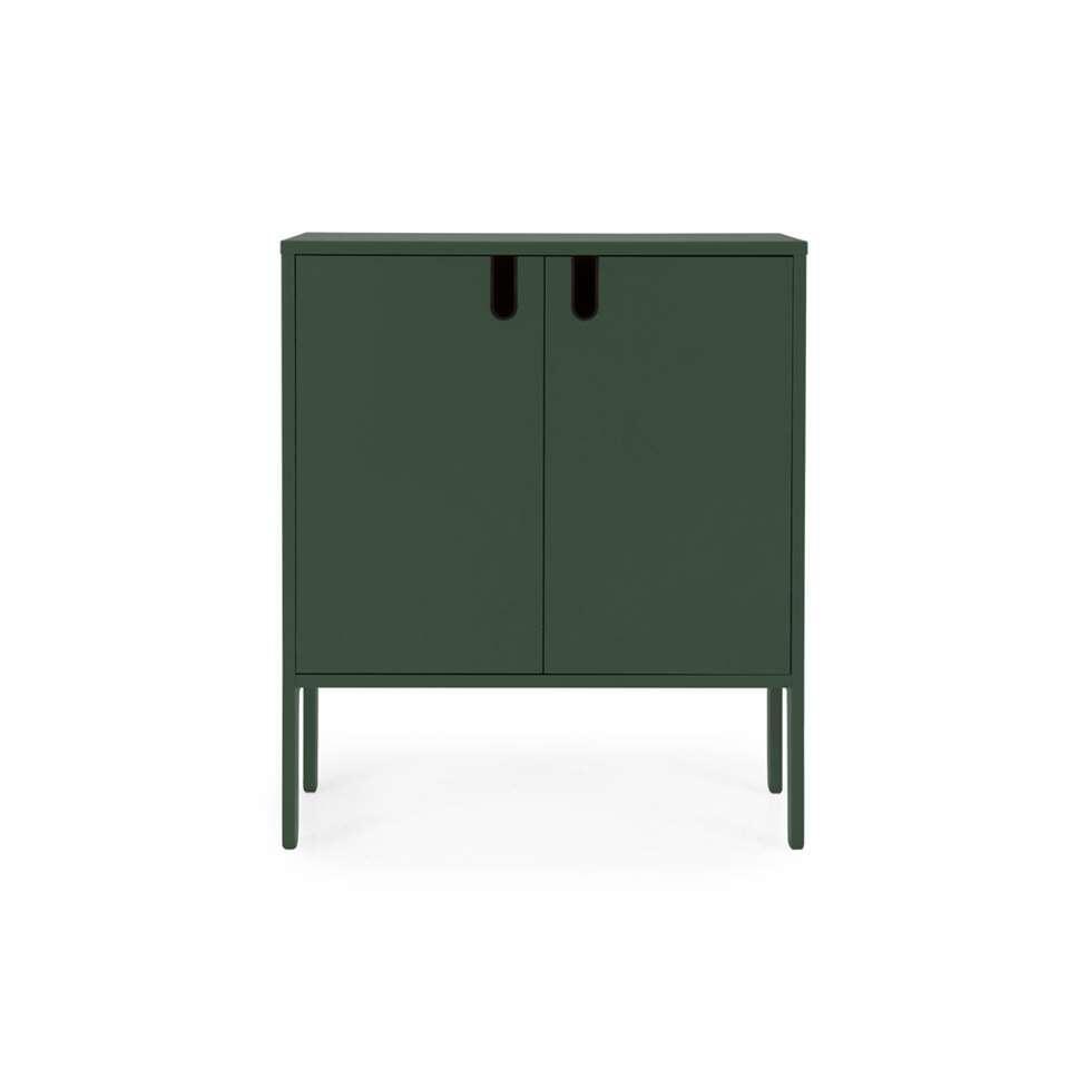 Tenzo wandkast Uno 2-deurs - groen - 89x76x40 cm - Leen Bakker
