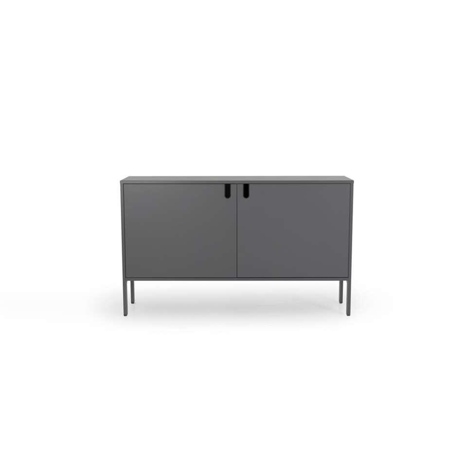 Tenzo dressoir Uno 2-deurs - grijs - 89x148x40 cm