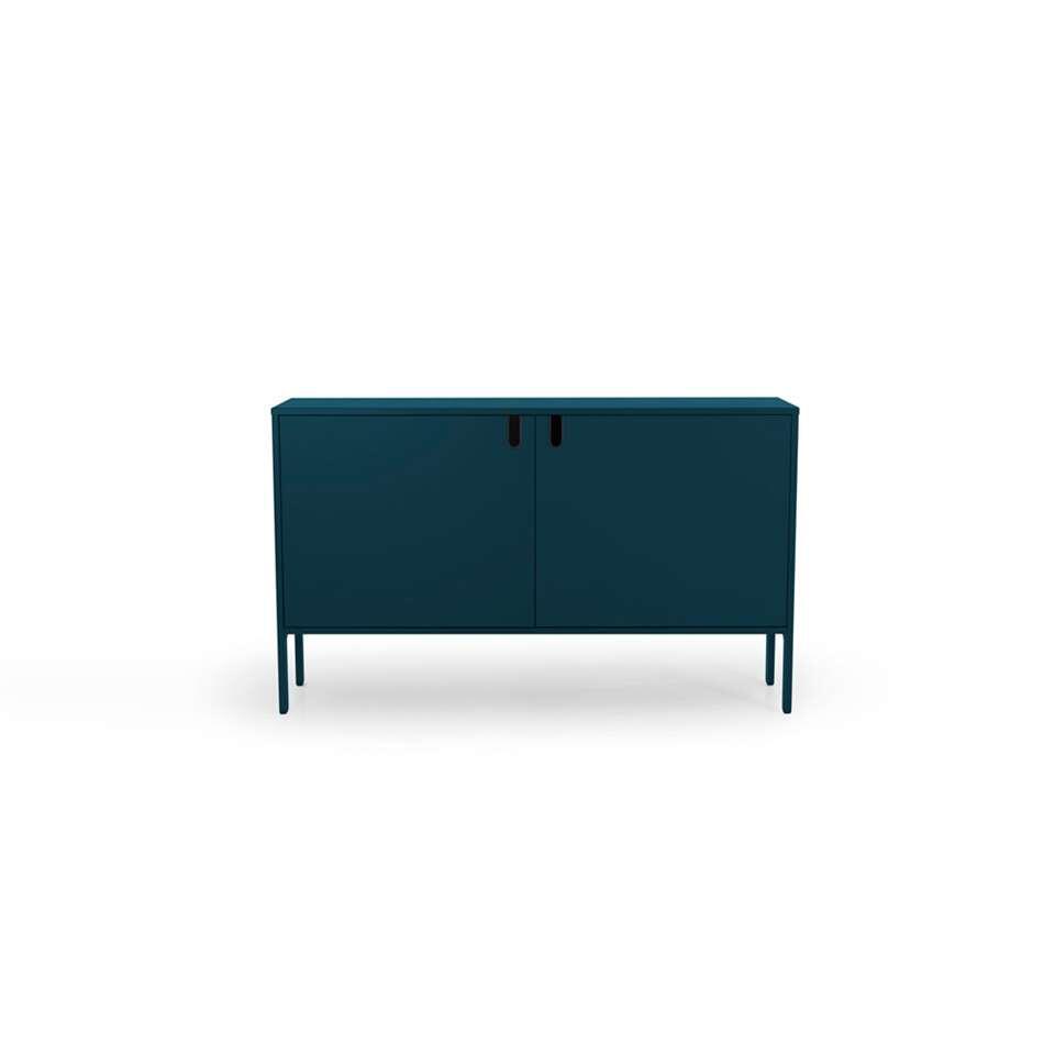 Tenzo dressoir Uno 2-deurs - petrolblauw - 89x148x40 cm