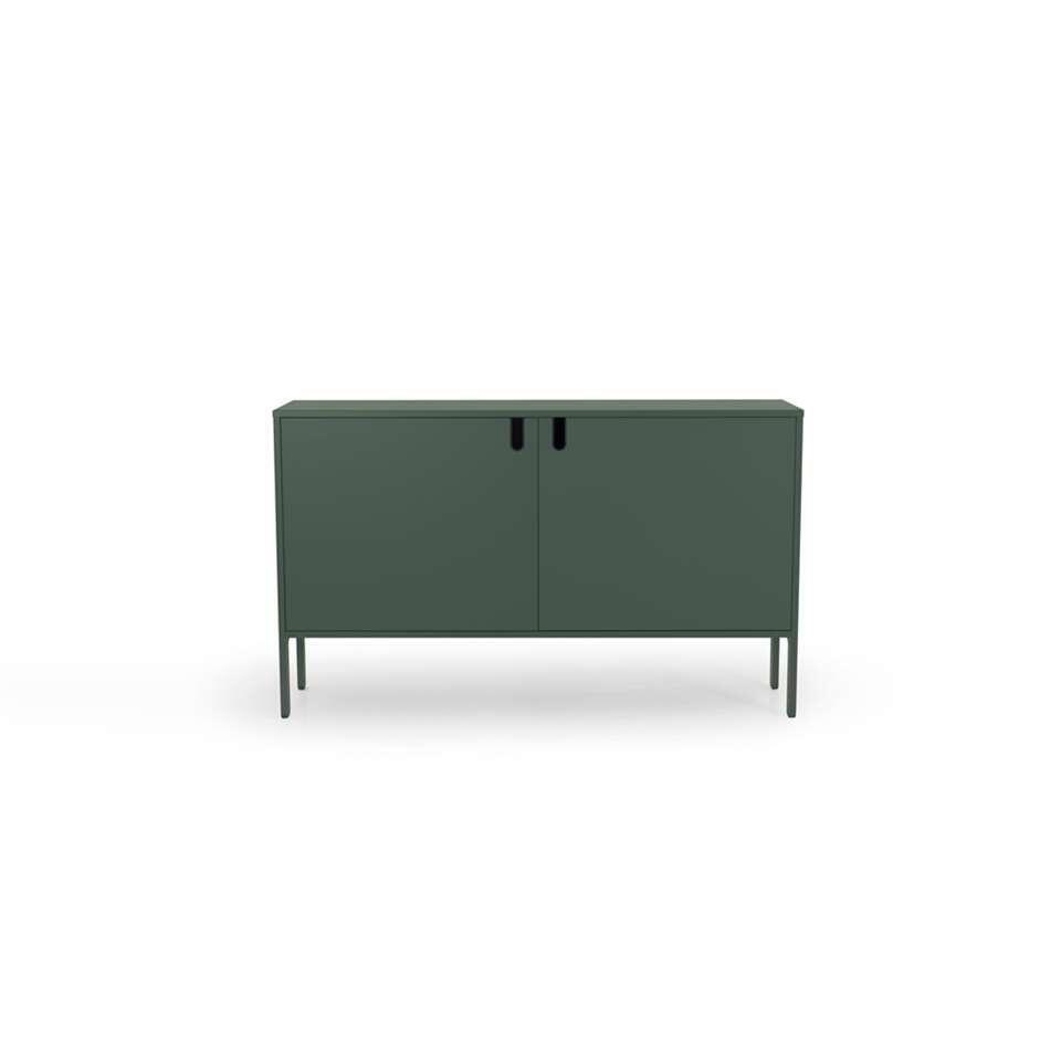 Tenzo dressoir Uno 2-deurs - groen - 89x148x40 cm