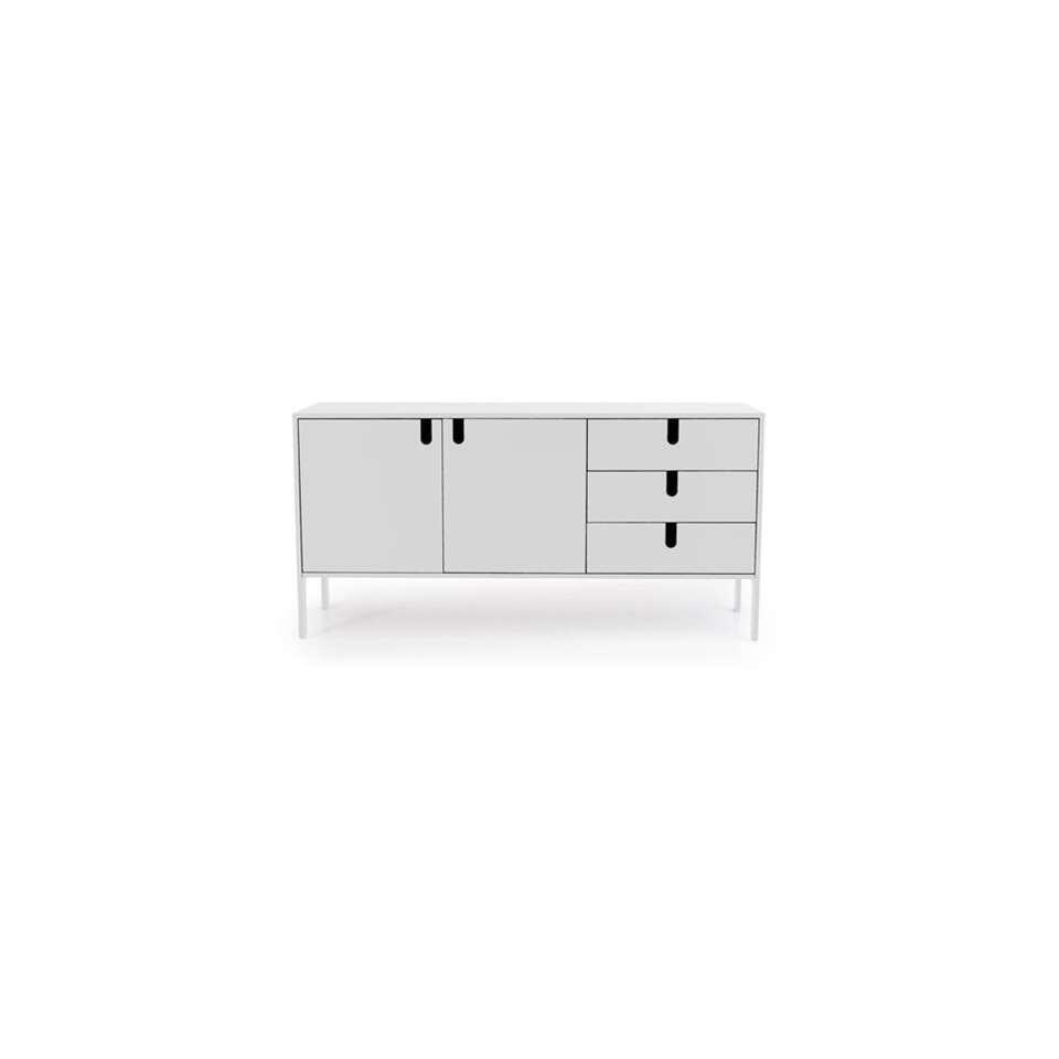Tenzo dressoir Uno - wit - 86x171x46 cm - Leen Bakker