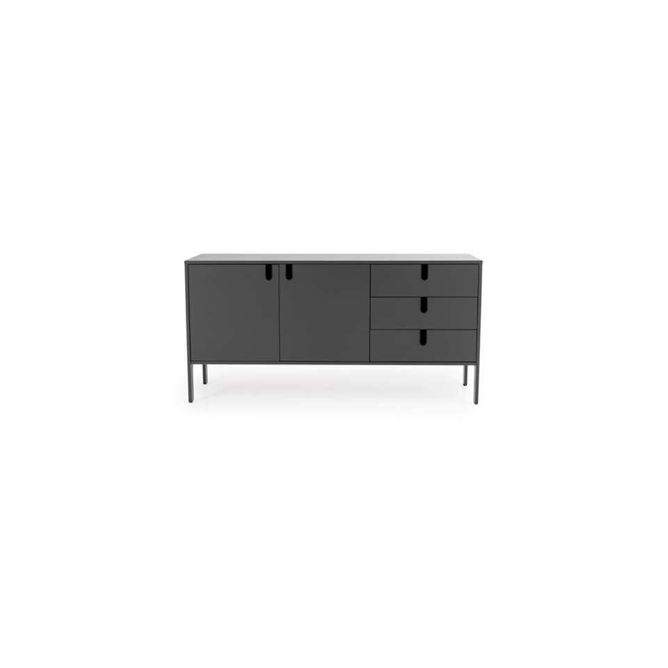Tenzo dressoir Uno - grijs - 86x171x46 cm - Leen Bakker