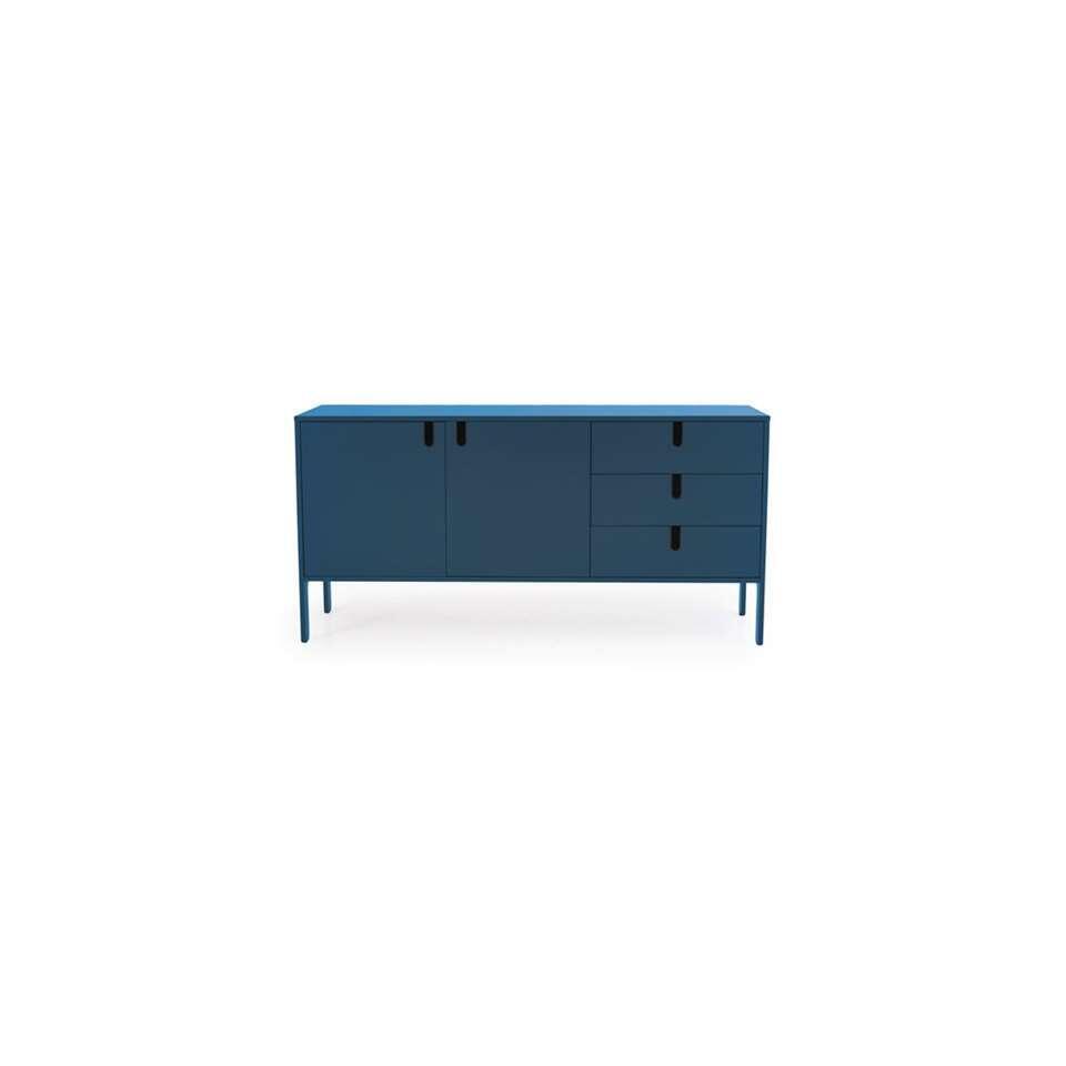 Tenzo dressoir Uno - petrol - 86x171x46 cm - Leen Bakker