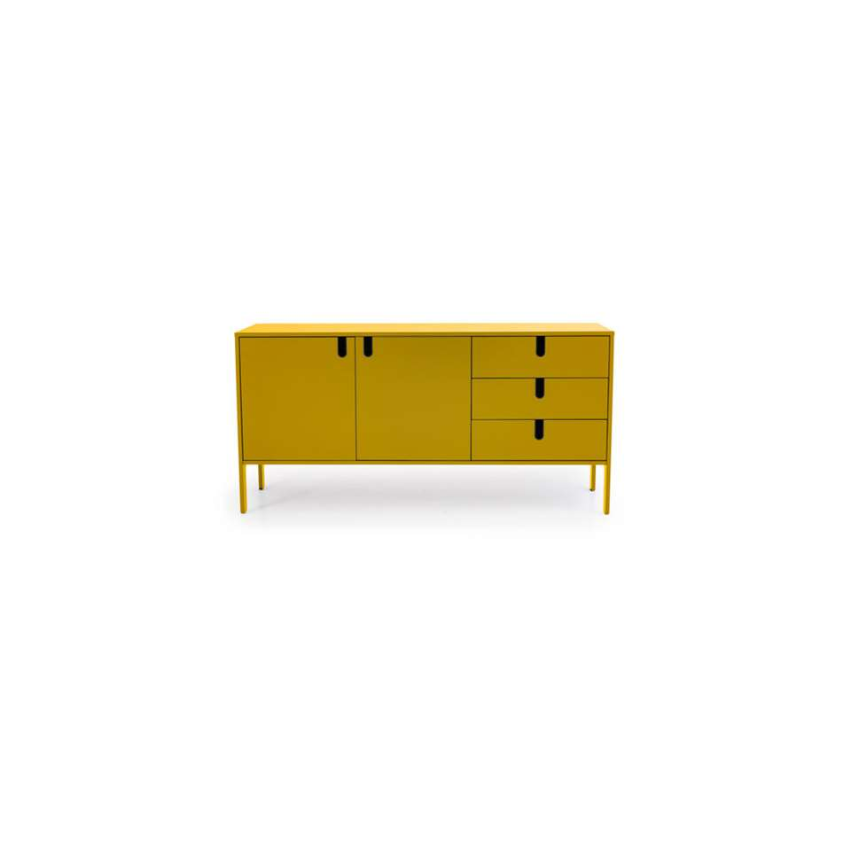 Tenzo dressoir Uno - mosterd - 86x171x46 cm