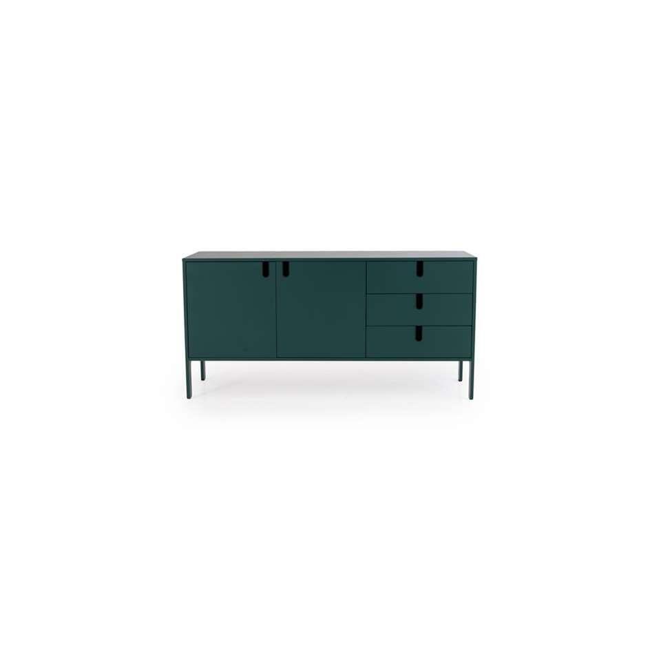 Tenzo dressoir Uno - groen - 86x171x46 cm
