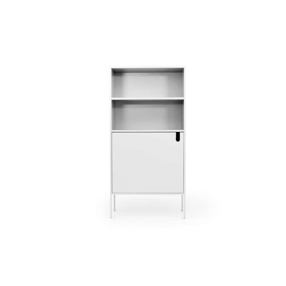 Tenzo wandkast Uno 1-deurs - wit - 152x76x40 cm