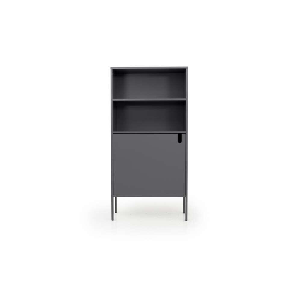 Tenzo wandkast Uno 1-deurs - grijs - 152x76x40 cm