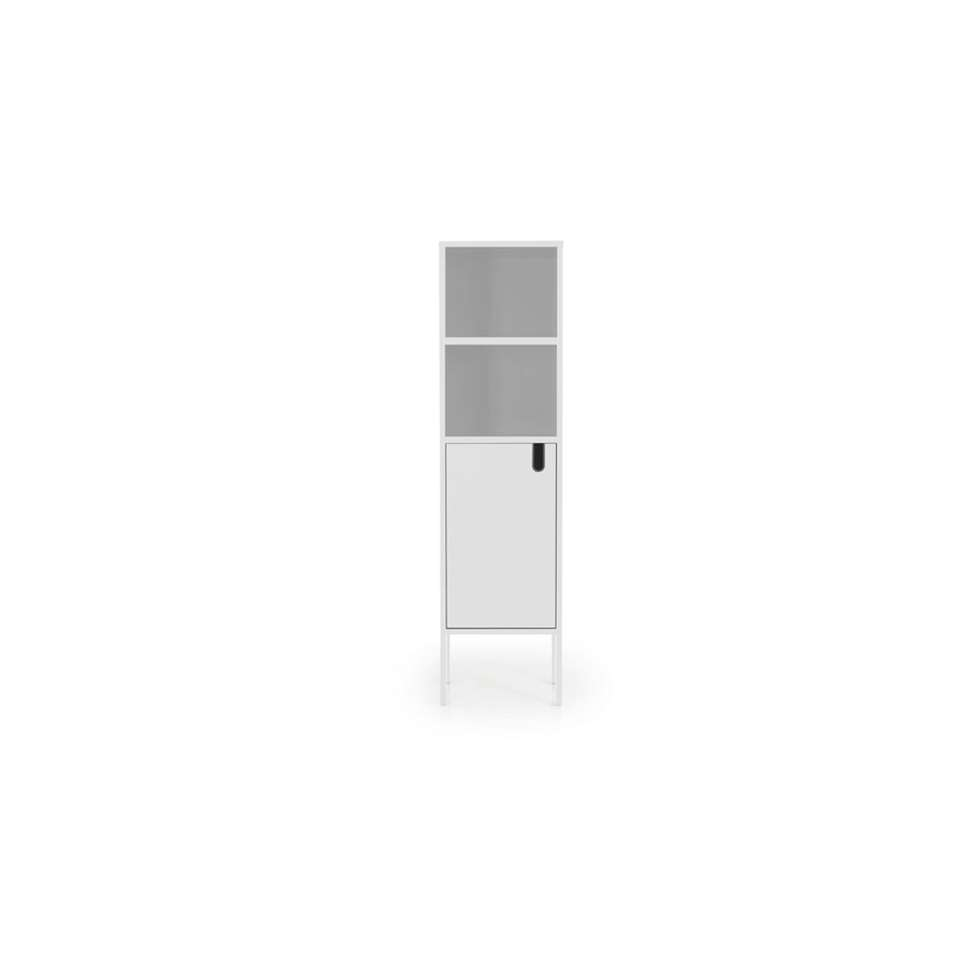Tenzo wandkast Uno 1-deurs - wit - 152x40x40 cm - Leen Bakker
