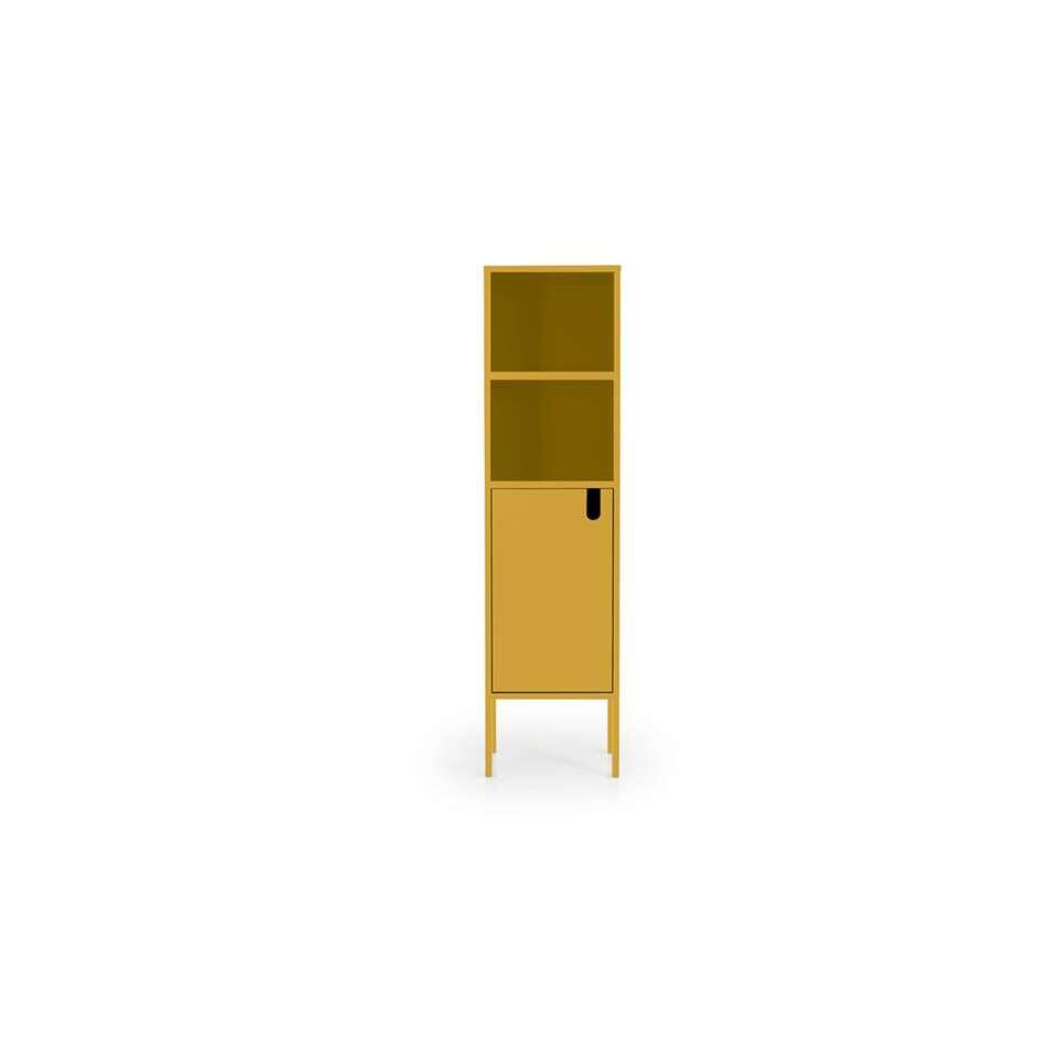 Tenzo wandkast Uno 1-deurs - mosterd - 152x40x40 cm