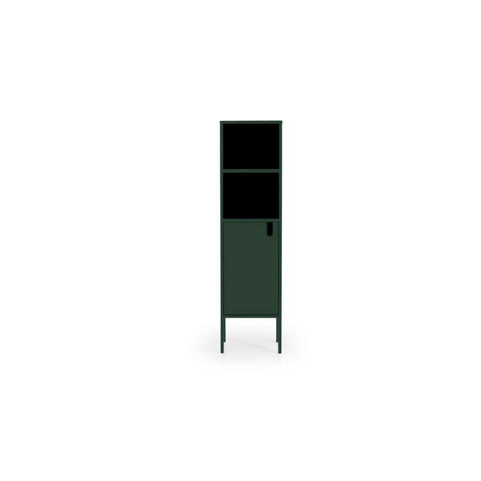 Tenzo wandkast Uno 1-deurs - groen - 152x40x40 cm - Leen Bakker