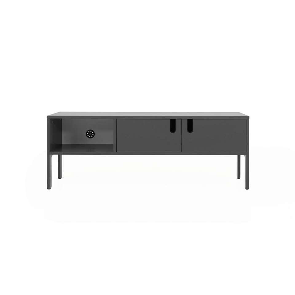Tenzo tv-meubel Uno 2-deurs - grijs - 50x137x40 cm